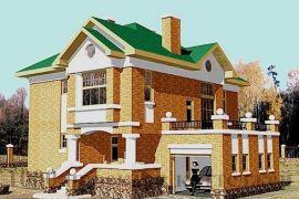 Кирпичный двухэтажный дом на 190 кв. м в средиземноморском стиле