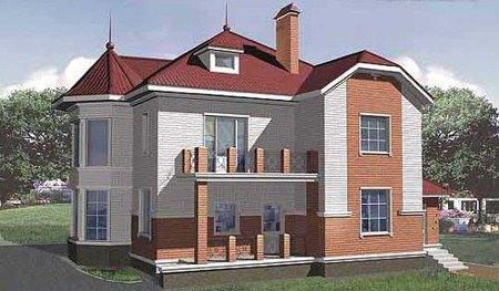 Фото домов из кирпича, газоблоков