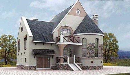 Дом из газобетонных блоков площадью 250,6 кв.м. Коттедж из газоблоков 11 х 12