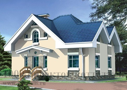 Дом из кирпича 9.2x9.7