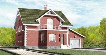 Проект дома из газоблоков 10х13