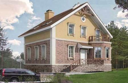Кирпичный дом 18.5x20.86