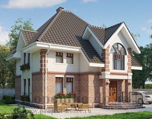 подчеркнуто-аристократическим стилем, изысканной отделкой фасада, сложной многоскатной крышей