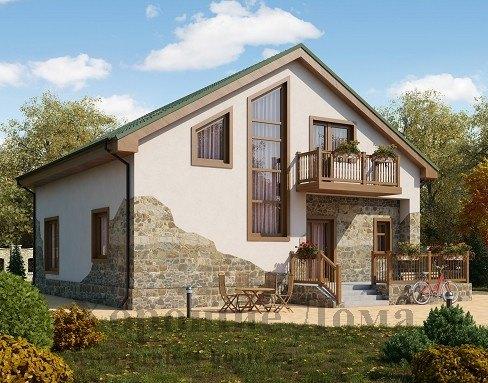 Дом из газоблоков AS-2060 с общей площадью 160 кв.м