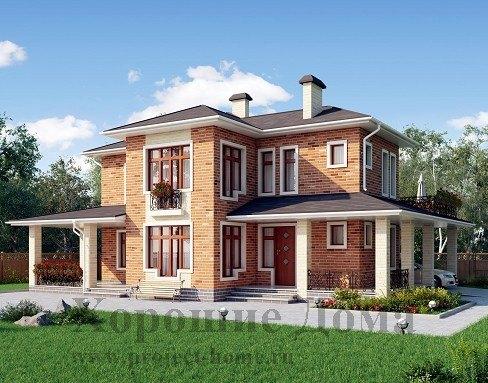 Дом из газобетона 13x13.5 208.9 кв.м. Дом из газобетона 10.2x11.4 152.3 кв.м